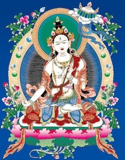 vetor ai dossel branco buddha thangka