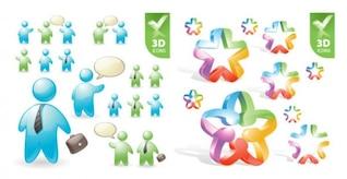 papéis de usuários e material de vetores pentagrama ícone 3d