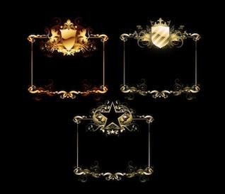 escudo estrela de cinco pontas Europeia material vetor fronteira
