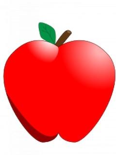 maçã dos desenhos animados