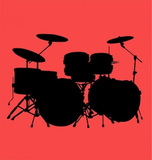drum kit vector.