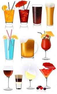 ilustrações de ações bebida vetores