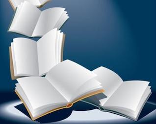 aberto voar vetor livros