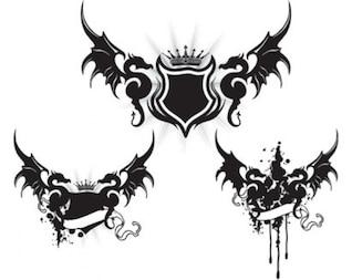 dragões e arte asas de dragão