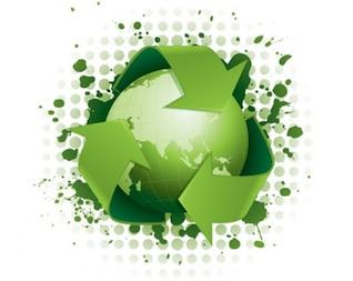 conceito de reciclagem verde funky
