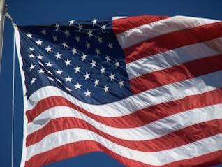 bandeira americana, e