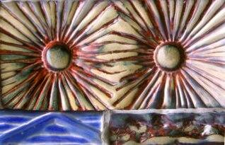 telhas cerâmicas, coloridos