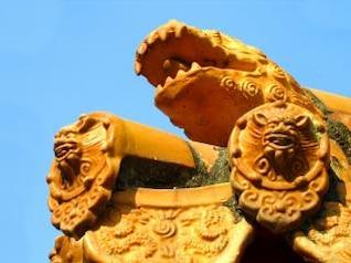 Tradicional Chinesa decorações telhado