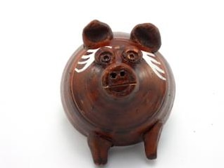 caixa de porco dinheiro