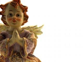 anjo cerâmico