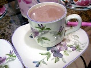 rosa chá, copo