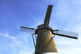 moinho de vento em Amsterdão perto de Kaag