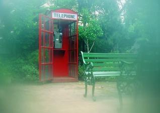 cabine telefônica, bancada
