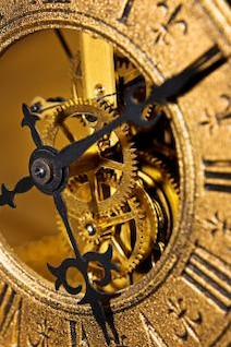 relógio, os ponteiros