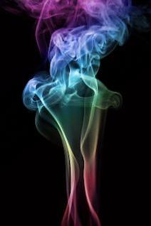 dinâmica fumaça aroma elegante