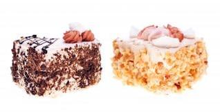 bolos objetos alimentares