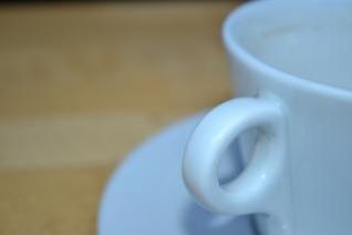Pires e xícara
