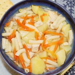 sopa de macarrão de galinha