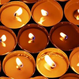 velas de perto isoladas