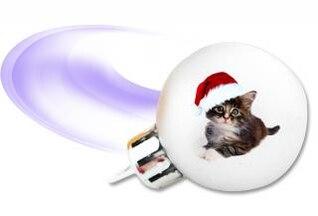 Natal lâmpada gatinho