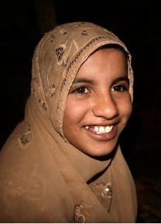 muçulmano menina portait