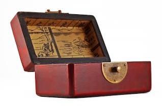 caixa de jóia do vintage