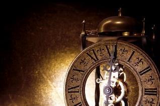 mostrador de relógio velho
