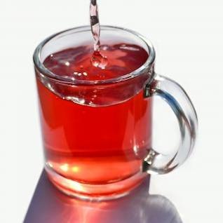xícara de chá de vidro