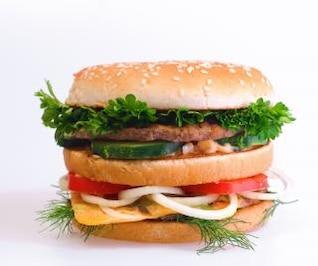 refeição de hambúrguer