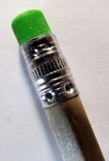 escritório lápis borracha ponta