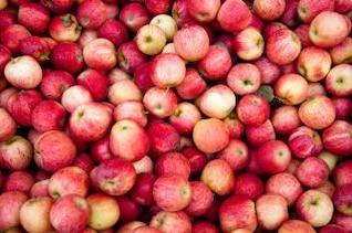maçãs vermelhas doces