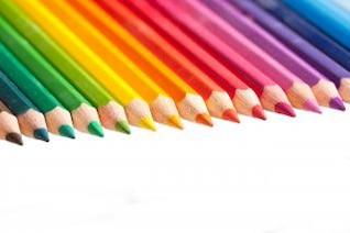 lápis de cor verde