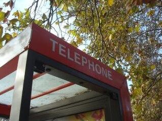 cabine telefônica da cidade