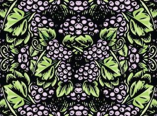 uvas vector art