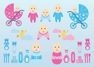 vector bebê gráficos