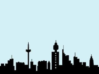Frankfurt skyline da cidade vetor pacote