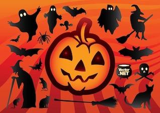 Silhueta dos desenhos animados de Halloween