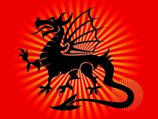 Legal dragão tatuagem vetor