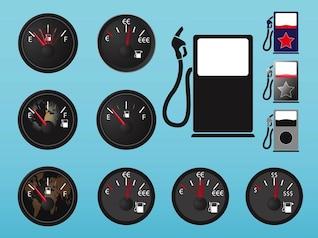 Jogo das etiquetas de combustível