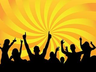 Club Party dança de celebração multidão