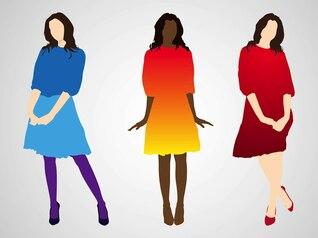 Moda feminina com vestidos coloridos