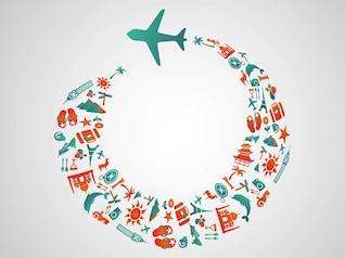 Vector turismo com avião