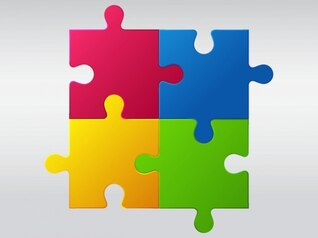colorido crianças puzzle vector