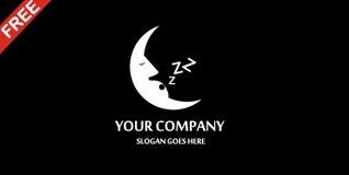 Lua empresa dormir vector logo