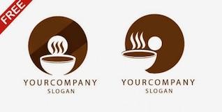 Restaurante café logotipo modelo