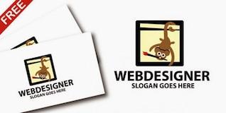 Modelo de logotipo da empresa para web design