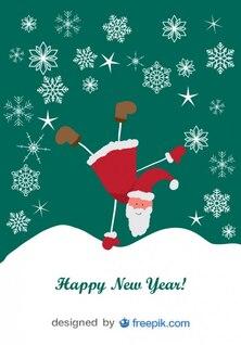 Cartão de Natal engraçado da dança Design Santa caráter