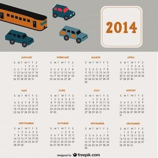 2014 carros calendário auto viagem projeto