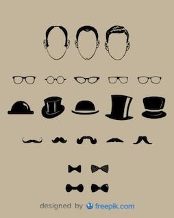Elementos de design senhores moda