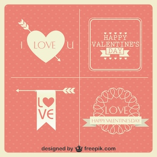 Cartões do dia coleção design minimalista do vintage dos namorados